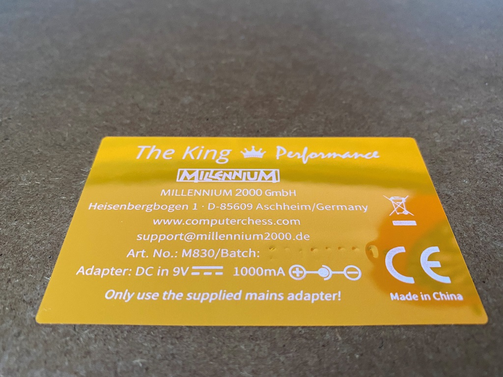 09c king performance plakette unten